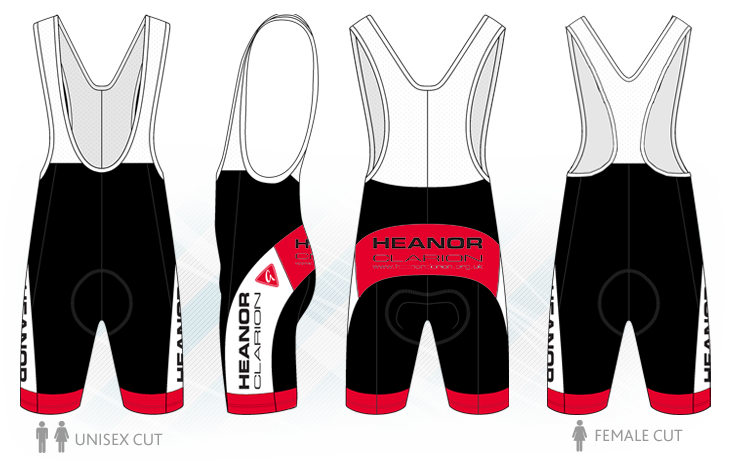 - Custom Band Cycling Bib Shorts