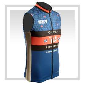 - Full-Zip Cycling Gilet (Unlined)