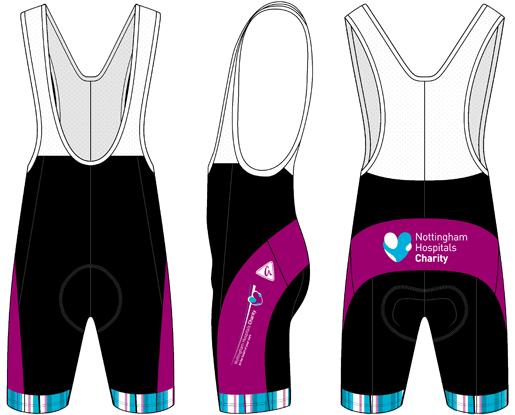 61277e527 Band Cycling Bib Shorts - Nottingham Hospitals Charity - Godfrey