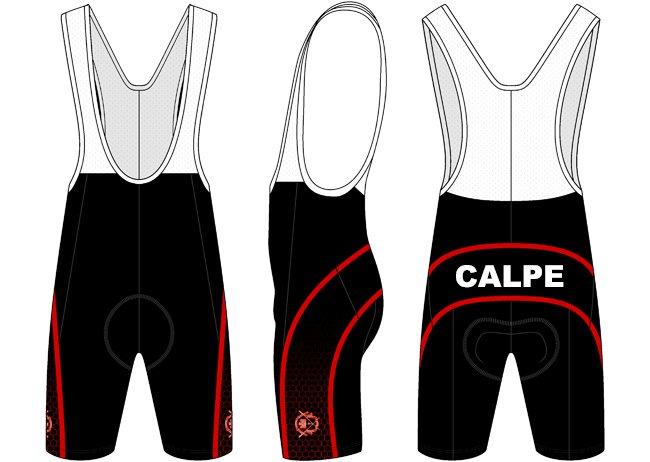 Custom Cycling Bib Shorts - Calpe Rowing Club - Godfrey