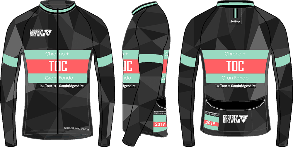 Chrono + Gran Fondo - L/S Full-zip Cycling Jacket (mesh lining)