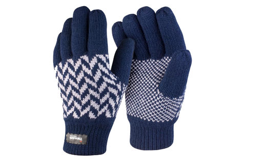 - Navy Pattern Gloves