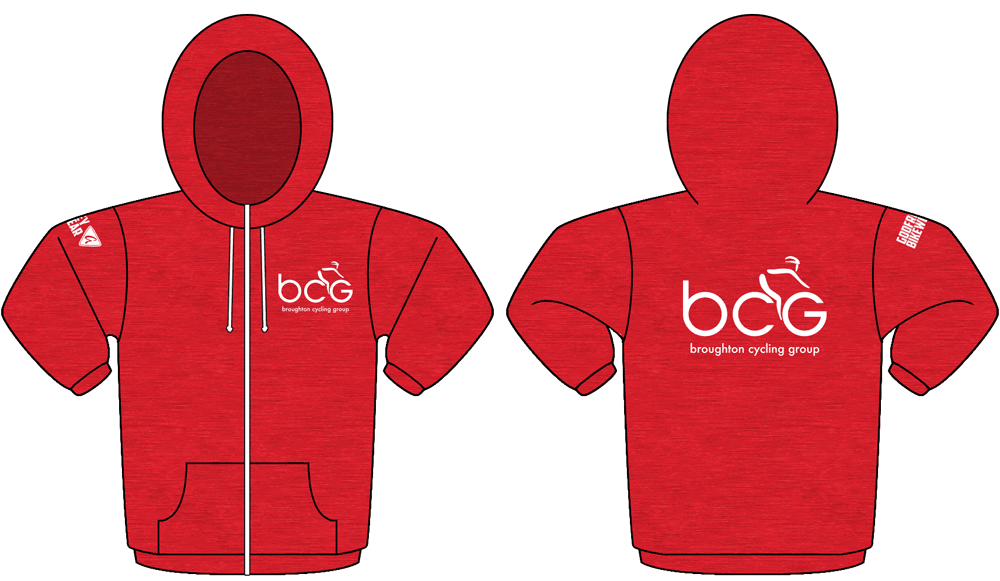 Red Heather - Zip Heather Hoodie
