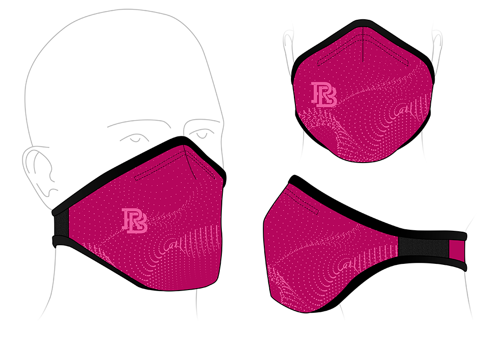 Face Mask - Rowing Bible Raspberry