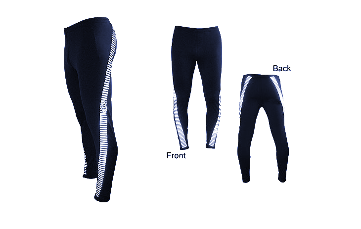Reflective Twisted Navy Leggings