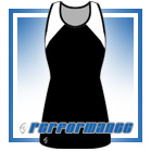 Bella Black/White Vest-Back Netball Dress