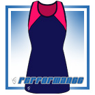 Bella Navy/Cerise Vest-Back Netball Dress