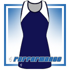 Bella Navy/White Vest-Back Netball Dress