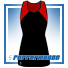 Bella Black/Red Y-Back Netball Dress