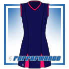 Godet Navy/Cersie Sleeveless Netball Dress