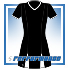 Godet Black/White Short Sleeve Netball Dress