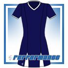 Godet Navy/White Short Sleeve Netball Dress