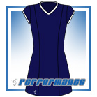 Venus Navy/White Cap Sleeve Netball Dress