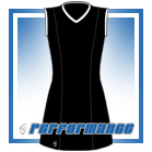 Venus Black/White Sleeveless Netball Dress