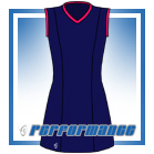 Venus Navy/Cerise Sleeveless Netball Dress