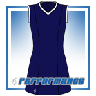Venus Navy/White Sleeveless Netball Dress