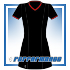 Venus Black/Red Short Sleeve Netball Dress