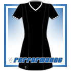 Venus Black/White Short Sleeve Netball Dress