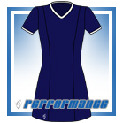 Venus Navy/White Short Sleeve Netball Dress