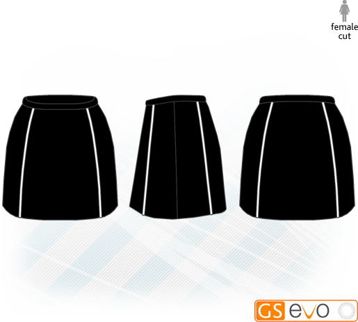 A-Line Black/White Netball Skirt