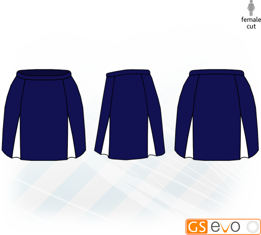 Kick Pleat Navy/White Netball Skirt