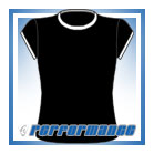 Crew Neck Black/White Cap Sleeve Netball Top