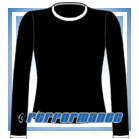 Crew Neck Black/White Long Sleeve Netball Top
