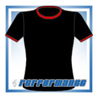 Crew Neck Black/Red Short Sleeve Netball Top