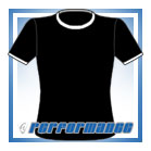 Crew Neck Black/White Short Sleeve Netball Top
