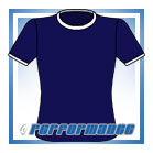 Crew Neck Navy/White Short Sleeve Netball Top