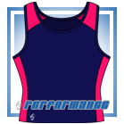 Pro Vest-Back Navy/Cerise Netball Top