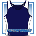 Pro Vest-Back Navy/White Netball Top