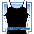 Pro Y-Back Black/White Netball Top