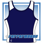 Pro Y-Back Navy/White Netball Top