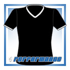 V Neck Black/White Short Sleeve Netball Top
