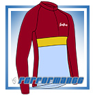 Maroon/Gold LS Neck-Zip Cycling Jersey