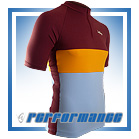 Maroon/Gold SS Neck-Zip Cycling Jersey