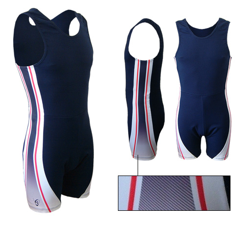 LE Sport Stripe Navy-Red AIO