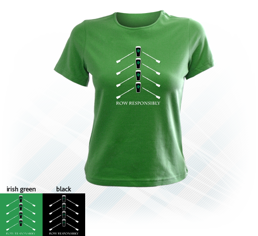 Row Responsibly - Irish Short-Sleeve Lady-fit T-Shirt - Various Colours