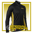 Black Rainbow L/S Full-zip Cycling Jacket (mesh lining)
