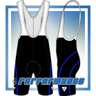 Blue Honeycomb Cycling Bib Shorts
