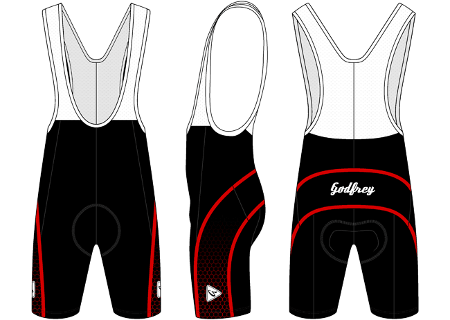 Red Honeycomb Cycling Bib Shorts