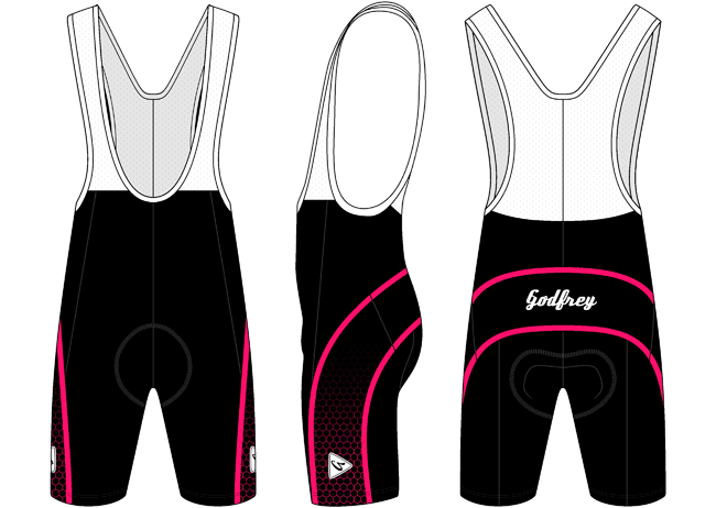 Cerise Honeycomb Cycling Bib Shorts