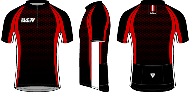 Red Honeycomb SS Cycling Jersey