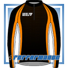 Orange Honeycomb LS Cycling Jersey