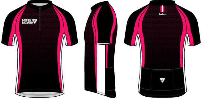 Cerise Honeycomb SS Cycling Jersey
