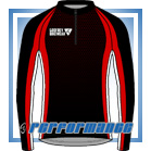 Red Honeycomb L/S Full-zip Cycling Jacket (mesh lining)