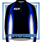 Blue Honeycomb L/S Full-zip Cycling Jacket (mesh lining)