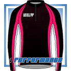 Cerise Honeycomb L/S Full-zip Cycling Jacket (mesh lining)