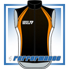 Orange Honeycomb Full-Zip Cycling Gilet (Unlined)